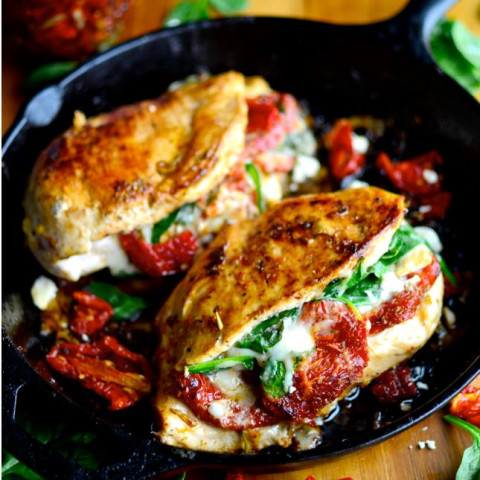Cheese Stuffed Chicken Spinach and Sun-dried Tomato
