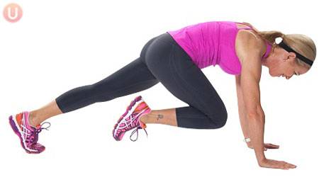 Exercise for love handles Mountain Climbers