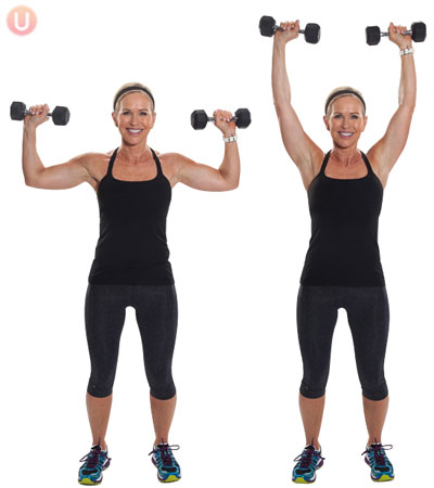 overhead press upper body workout for women
