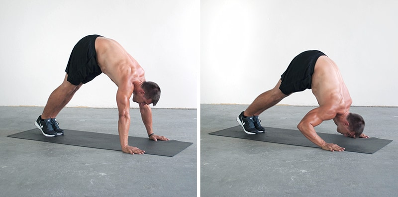 Triceps Workout at Home Pike push up