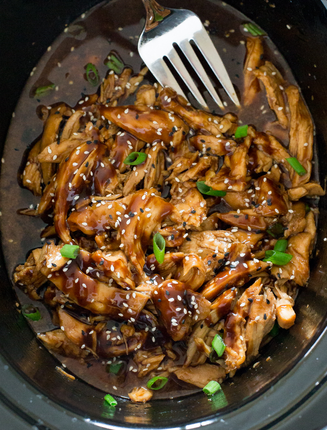 Healthy Slow Cooker Dinner Recipes for Weight Loss Honey Garlic Chicken