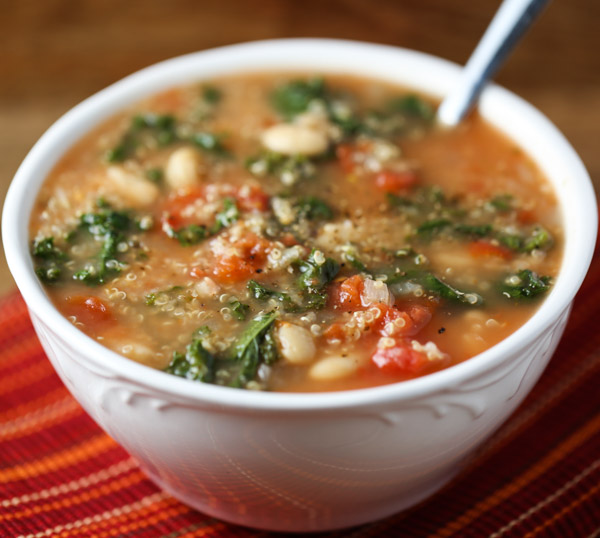 Slow Cooker Quinoa and Kale Soup