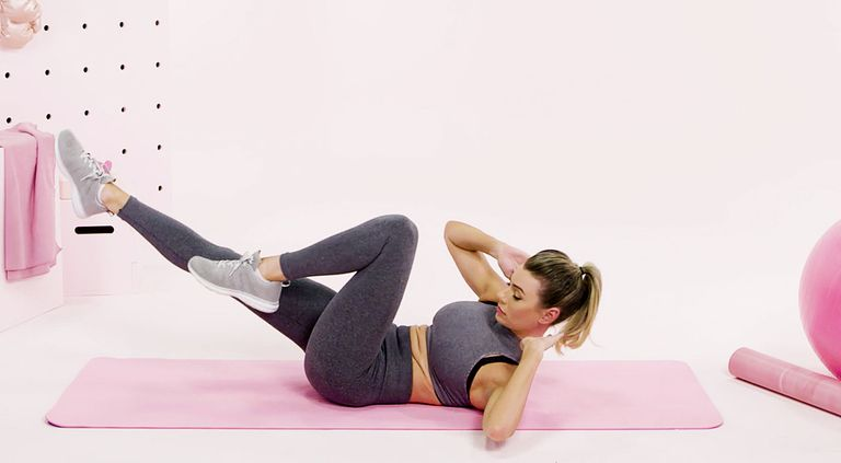 Exercise for love handles Bicycle crunch