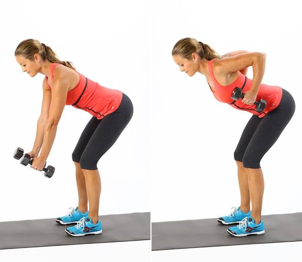 How To Get Rid Of Back Fat bent over row