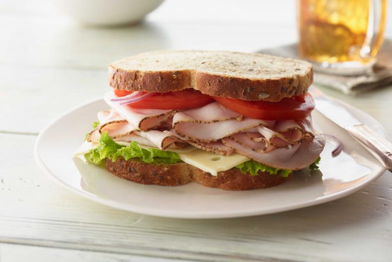 Healthy Late night snack Turkey Sandwich