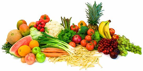 Fruits And Raw Vegetables