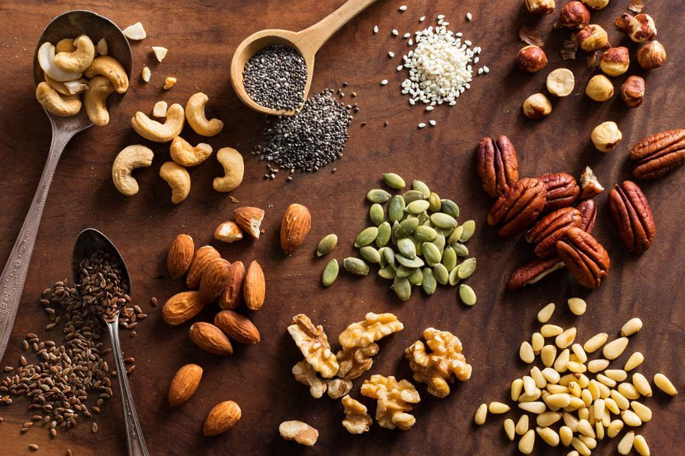 Keto diet shopping list Nuts and Seeds