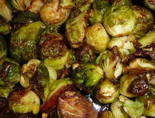 Roasted Brussel Sprouts with Garlic