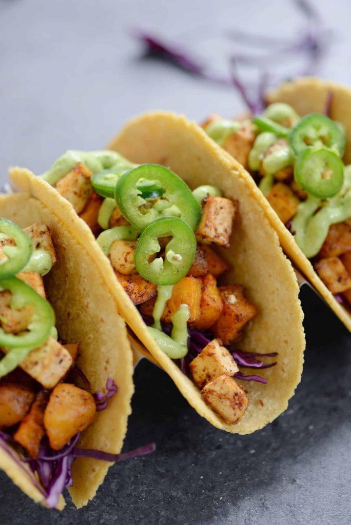 Roasted Vegetable Tofu Tacos