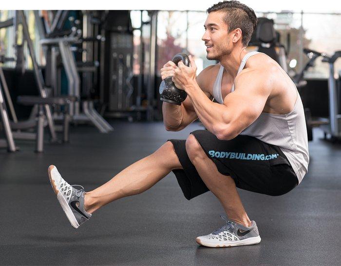 Kettlebell Workouts For Men pistol squat