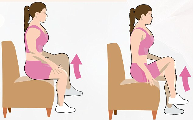Chair Exercises For Seniors Hip Marches