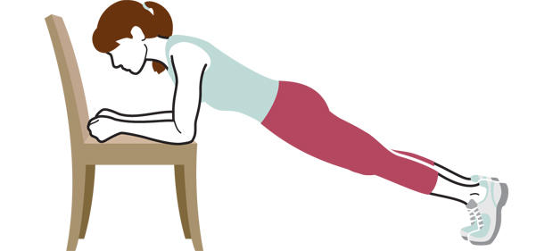 Chair Exercises For Seniors Modified Planks