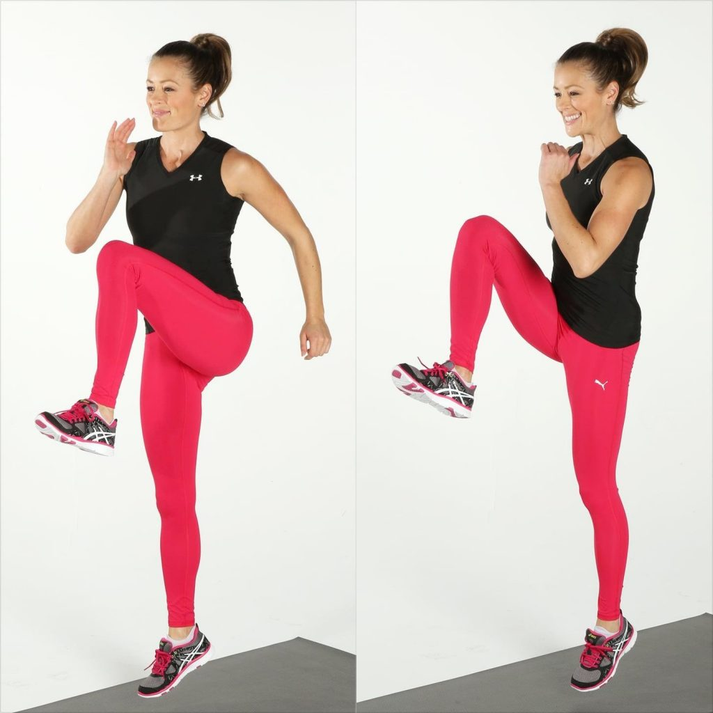 Hiit Workout Routine for Beginners High Knees