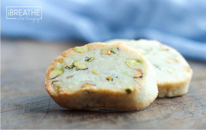 pistachio shortbreads